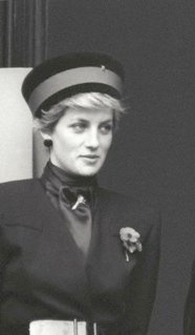 November 9, 1986: Princess Diana attended the Remembrance Sunday service at the Cenotaph, Whitehall, London