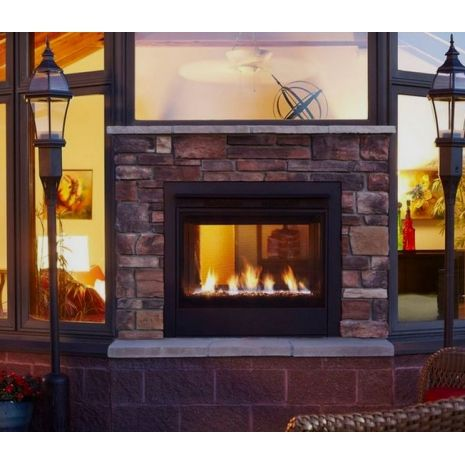 36 Inch Twilight II Indoor Outdoor Gas Fireplace | Outdoor ...