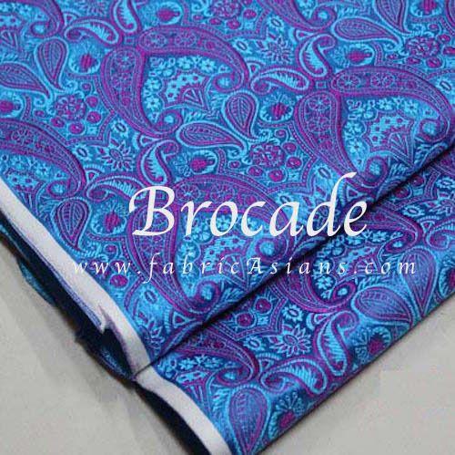 Tissu Paisley Bleu et fuchsia. Tissu Oriental. Vendu par 50cm. SB100933 : Tissus pour Loisirs créatifs par fabricasians