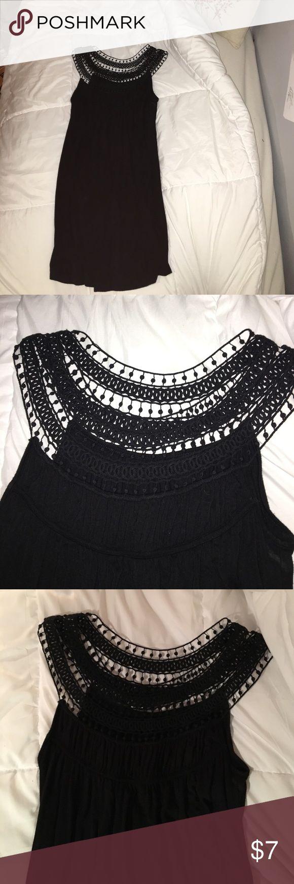 NEW Black Sundress patterned top summer dress Summer dress, black medium length Kenneth Cole Dresses Midi