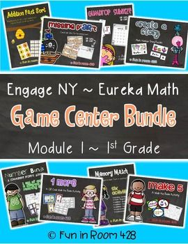 ** Download the PREVIEW to see details on each of the 8 centers. **This is an amazing supplement for your Engage New York or Eureka Math curriculum! These center activities were specifically designed to help your kiddos understand and practice the skills taught in Module 1.