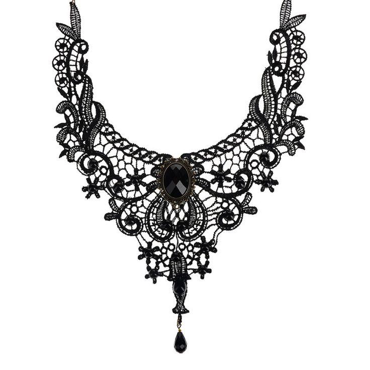 2015 choker victoriaanse steampunk stijl gothic kraag ketting