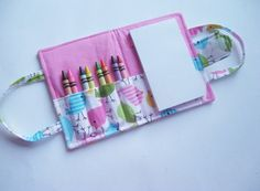 Crayon Wallet — Great DIY gift for the little ones in my life!