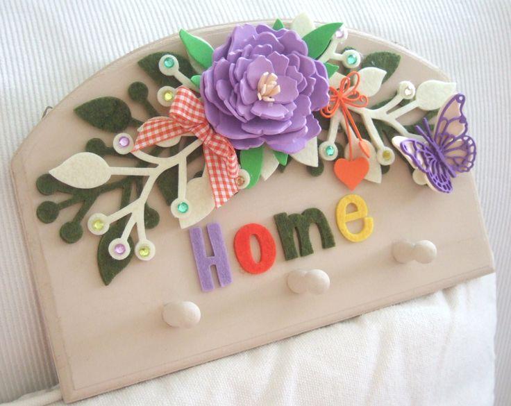targhetta portachiavi con fiori gomma crepla/foamy