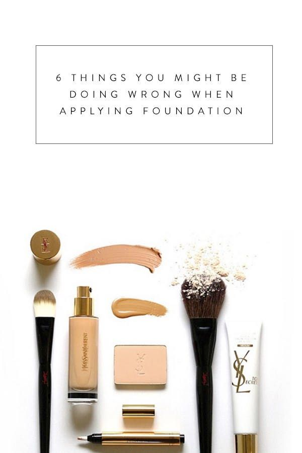 6 Things You Might Be Doing Wrong When Applying Foundation via @PureWow