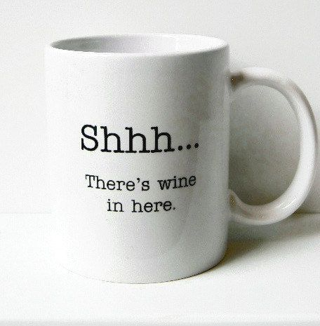 funny wine coffee mug for wine lover by spinstermugs on Etsy, $15.00