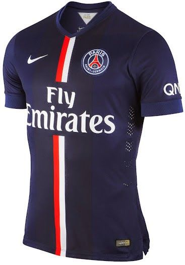 nike psg Domicile equipement de maillot de foot pas cher 2014-2015 bleu Fly Emirates