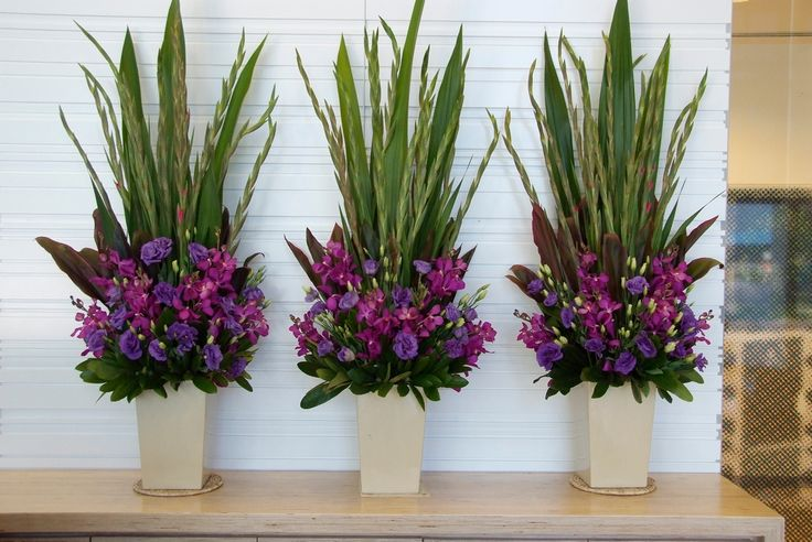 Large Urn - Hot pink and Purple flowers