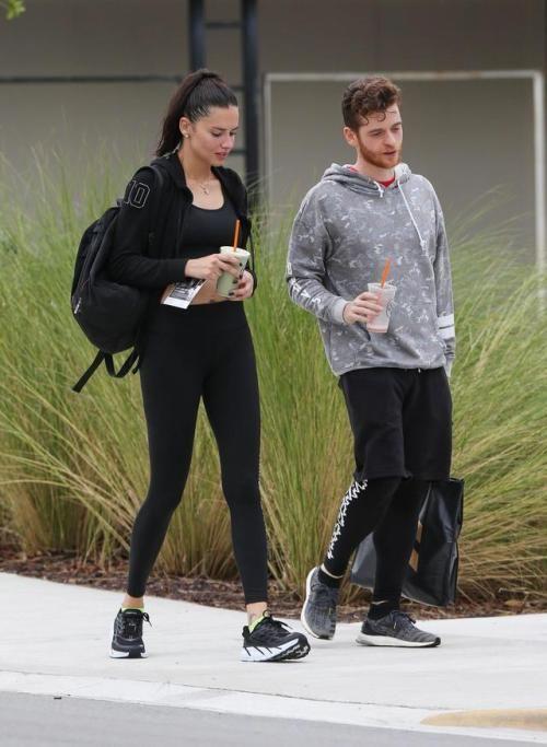 Adriana Lima and her boyfriend Metin Hara in Miami Beach, October 06, 2017 , HQ
