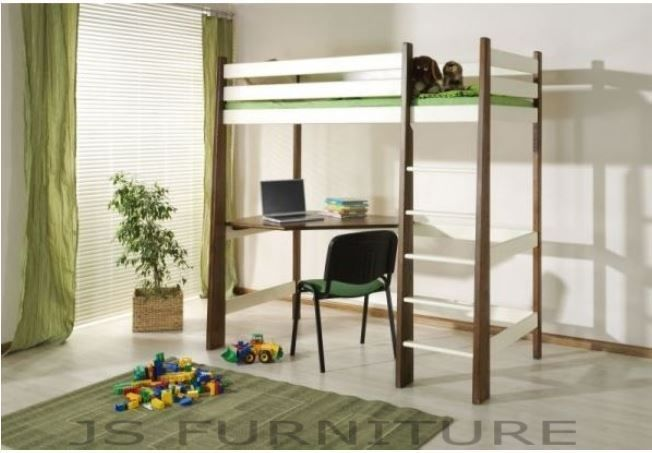 190 x 87 x 190 cm £419 CABIN BED /WITH MATTRESS/ WITH DESK / HIGH SLEEPER/ CHILDREN  FURNITURE/JS21a