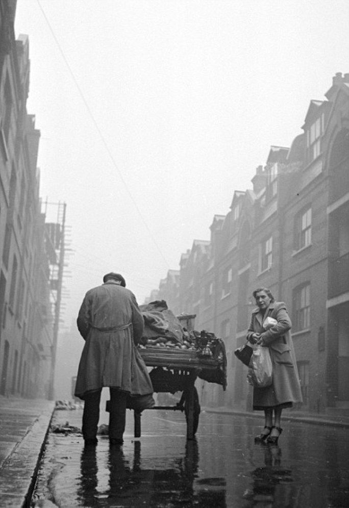 Post-war in London's East End, 1950