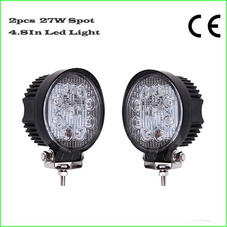 2X 27W 4inch Spot Round LED Work Light 4X4 Offroad Fog Boat SUV ATV Truck 4WD #evolve2016