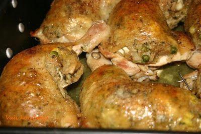 Receptek, és hasznos cikkek oldala: Töltött csirkecomb