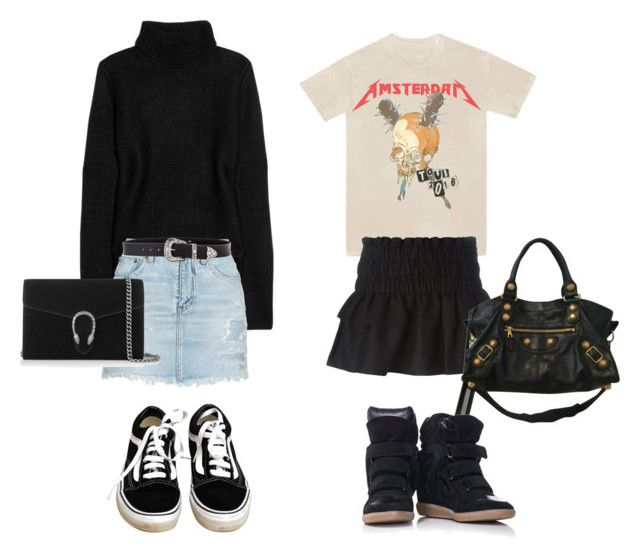 Ja tack by fashiondisguise on Polyvore featuring T By Alexander Wang, Étoile Isabel Marant, Yves Saint Laurent, Isabel Marant, Vans, Balenciaga, Gucci and B-Low the Belt