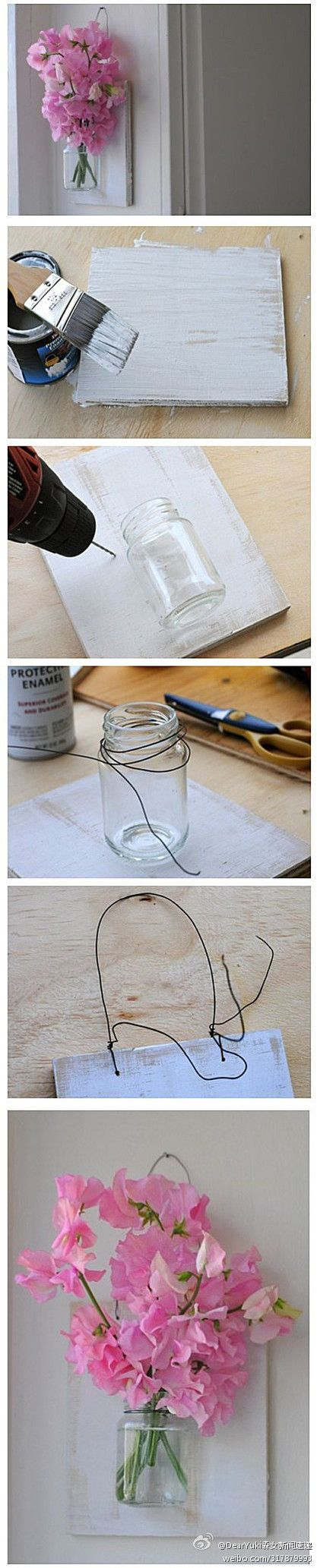 Cute #diy project, because sometimes I just need to have a bunch of pretty flowers hanging on my wall.