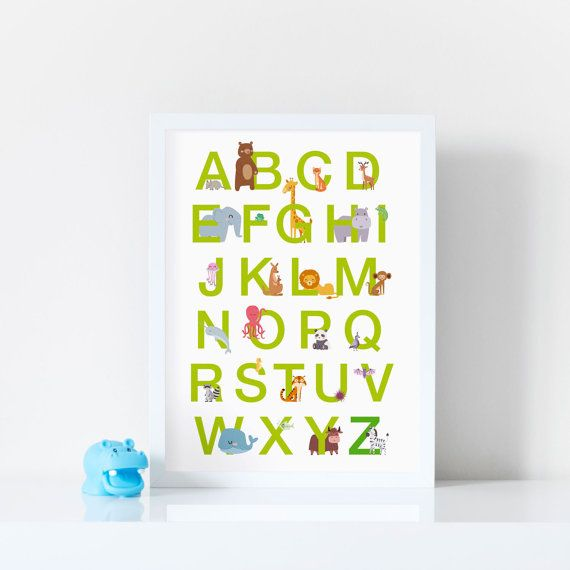 A3  Animal Alphabet with optional highlighted by PigletandFizz