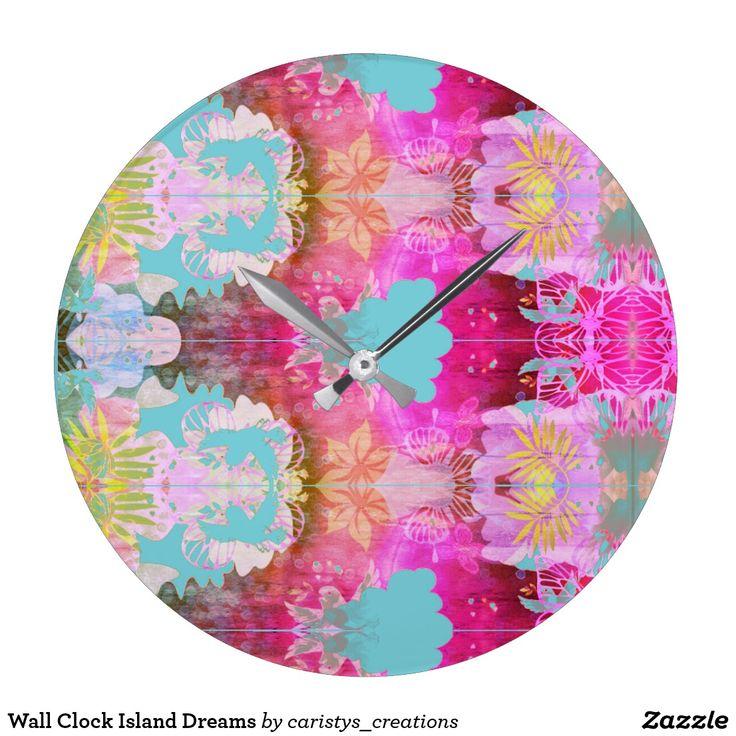 Wall Clock Island Dreams