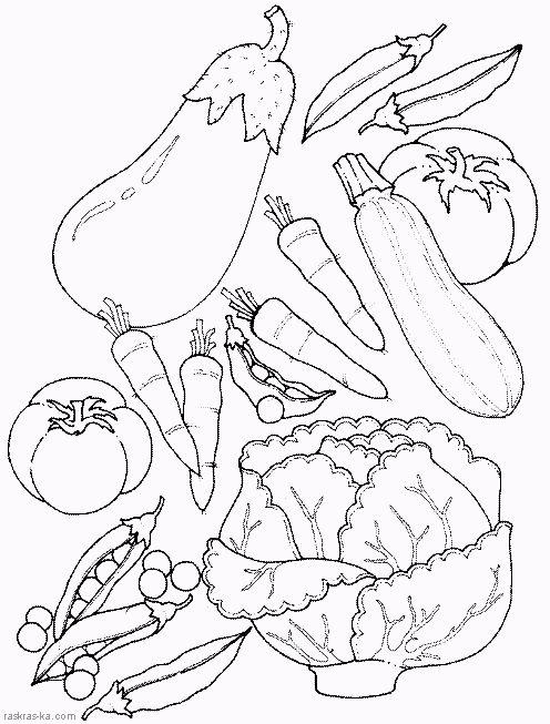 овощи раскраски для детей - Google Search