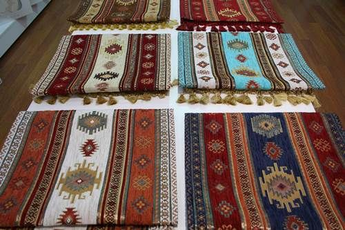 Kilim Table Runners Wholesale - Set of 80 - http://turkishbox.com/product/kilim-table-runners-wholesale-set-of-80/  #turkishtowels #peshtemals #turkishproducts