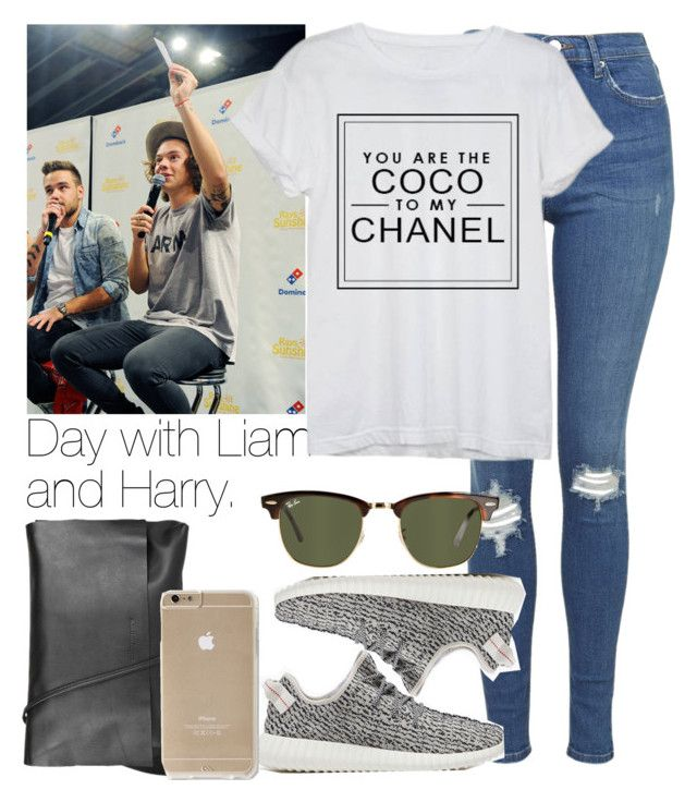 """Day with Liam  and Harry."" by welove1 ❤ liked on Polyvore featuring Topshop, Chanel, adidas Originals, Arlington Milne and Ray-Ban"