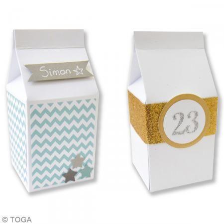 Caja de leche Blanco - 5,5 x 7 cm - 6 unidades - Fotografía n°2