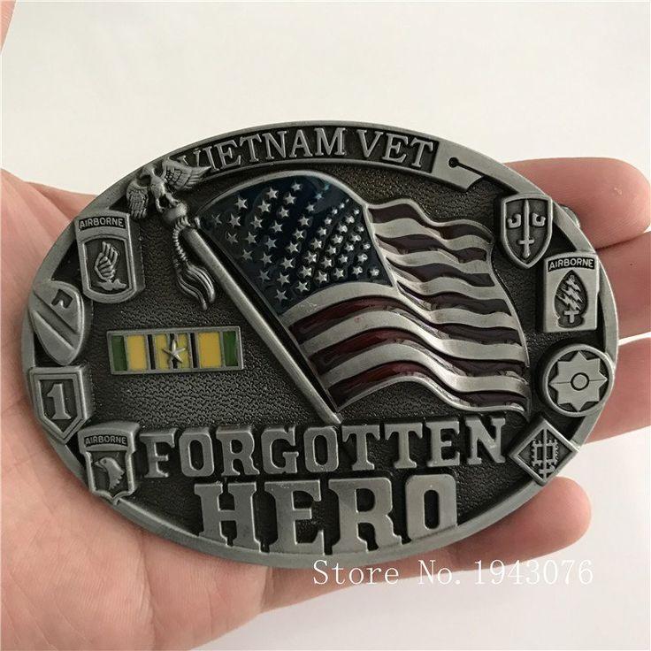 United States Flag Belt Buckle With Oval Metal For 4cm Wide Belt Buckle