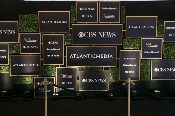 Atlantic Media S Pre Dinner Reception Social Supply Event Design And Production Created A Gal Corporate Event Design Corporate Events Decoration Event Signage