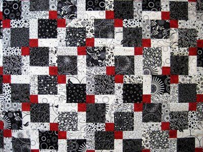 Valentine Quiltworks: Disappearing 9 Patch Quilt - link has instructions