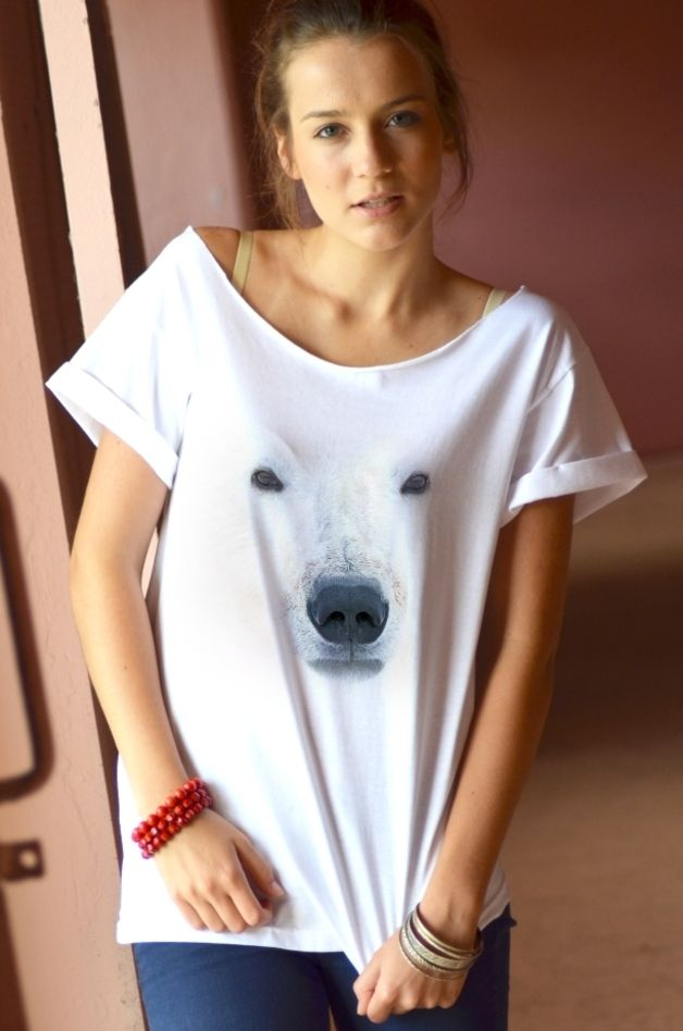 T-Shirts & Sweatshirts - Damen Oversize T-Shirt POLAR BEAR - ein Designerstück von great_as_you bei DaWanda