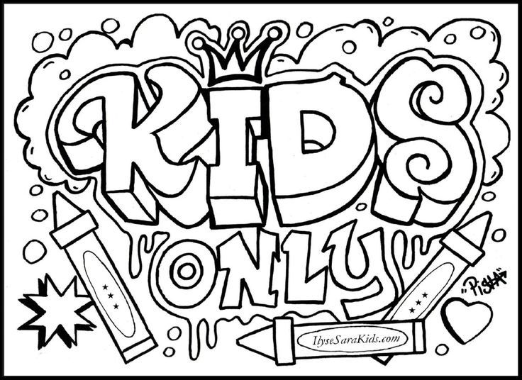coloring graffiti pages online - photo#5