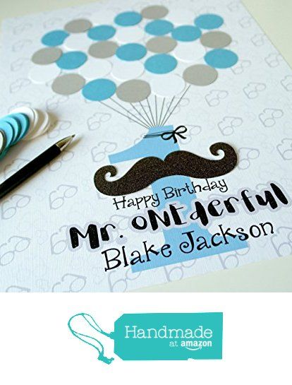 Mr. ONEderful 1st Birthday Party Boy Decor, Mustache Boy First Birthday Party Guest Book Alternative from Sweetie and Roo https://www.amazon.com/dp/B01N0DVPFP/ref=hnd_sw_r_pi_dp_eJ5Syb89WW3YW #handmadeatamazon