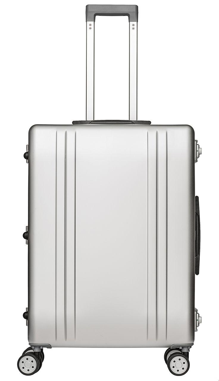 Packenger Aluminium Luxury Traveller Alu Reisekoffer 68L Silber