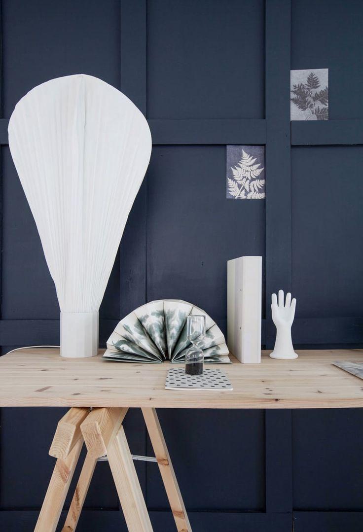 Blå vegg malt i Jotuns Deco Blue