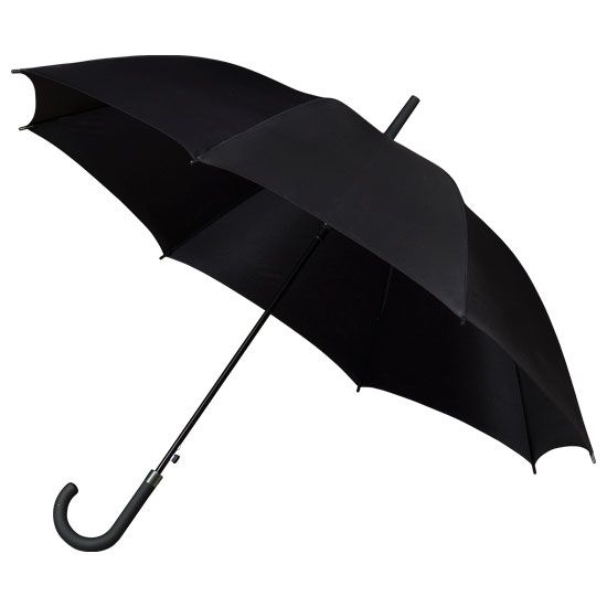 In London or Seattle, the black umbrella is always a classic.