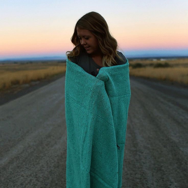 Solid Color Indy Blanket - Mint