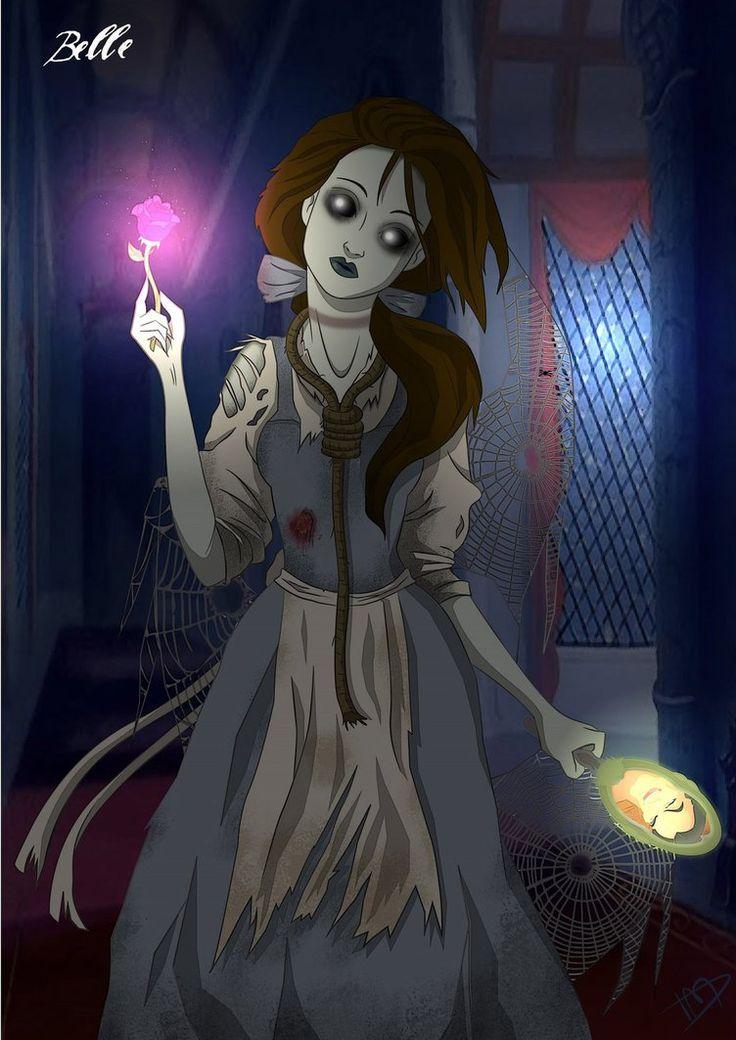 Twisted Belle by ~Kasami-Sensei on deviantART   hung herself after gaston killed adam?