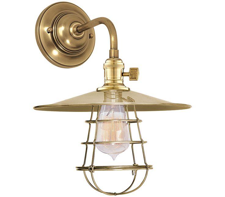 Hudson Valley Lighting 8000 AGB MS1 WG Heirloom 1 Light Sconce At Del