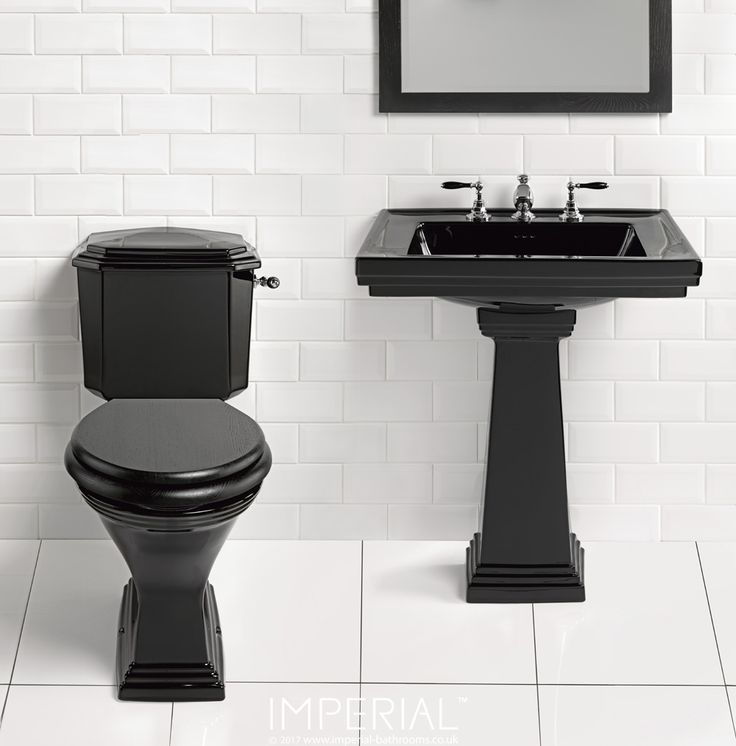 A gleaming black finish gives Astoria Deco a special allure, throwing its crisply defined detailing into even more impressive relief. #imperialbathrooms #luxurybathroom #madeinengland