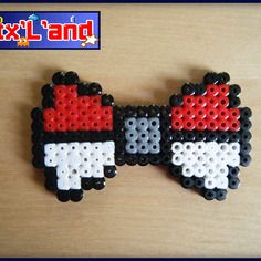 Bow pokeball hama midi beads by Pixel Land