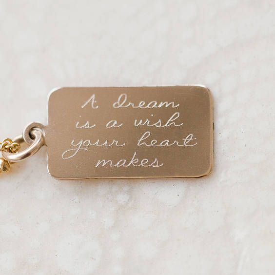 Personalised Tiny Tag Message Bangle