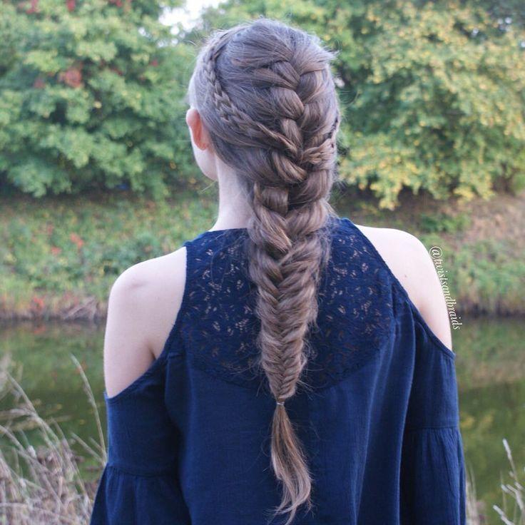 Hindu Bridal Hairstyles 14 Safe Hairdos For The Modern: French Braid And Fishtail 💙🐠 #twistsandbraids