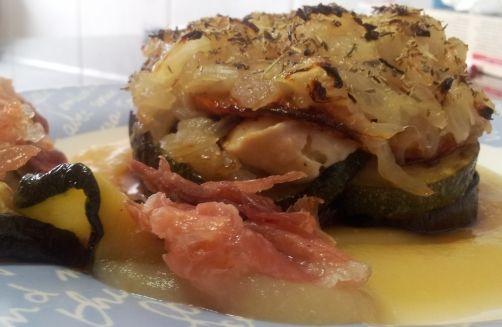 Timbal de verduras con puré de manzana para #Mycook http://www.mycook.es/receta/timbal-de-verduras-con-pure-de-manzana/