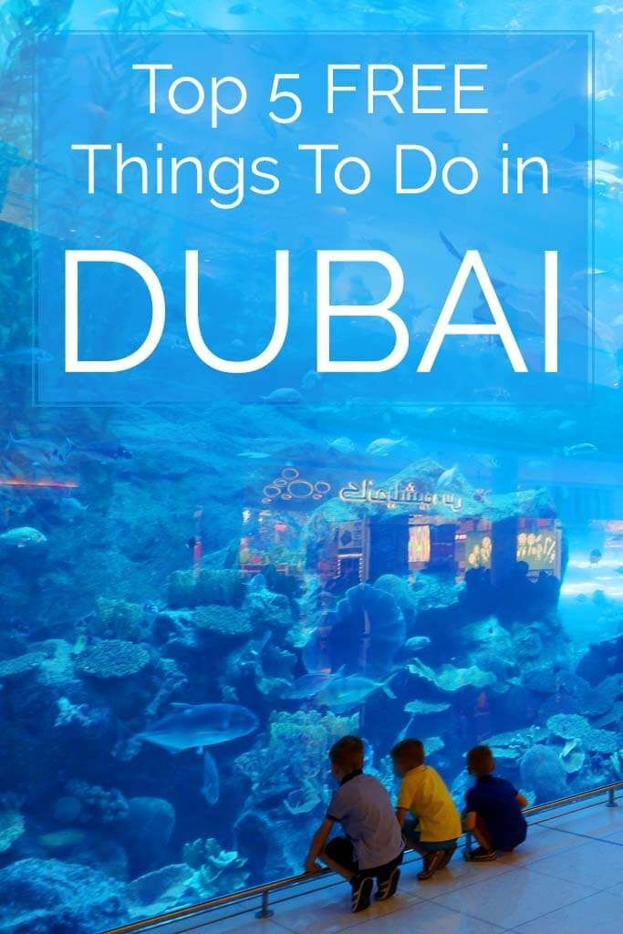 Top 5 free Dubai activities and 3 great activities under 3 EUR - read more and see the best of Dubai without breaking the bank!