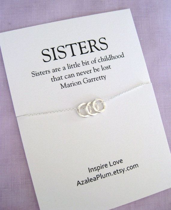 3 Sisters Necklaces. Gift for 3 Sisters. SISTERS Necklace. 3