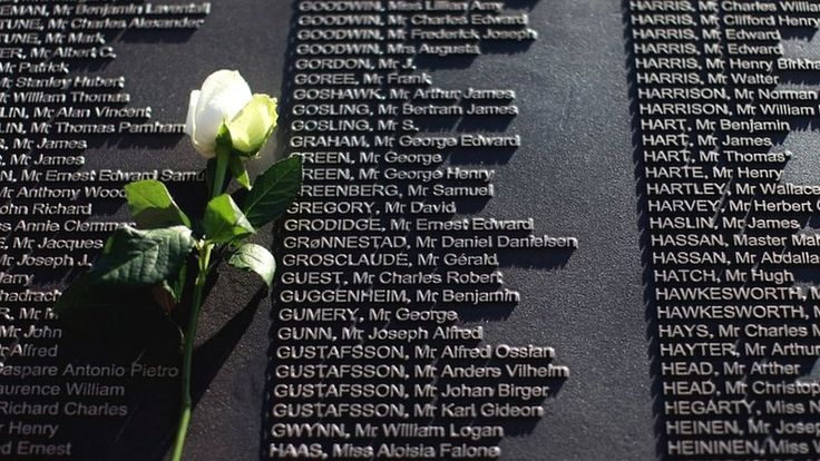 Belfast, the city that built the Titanic, has unveiled a memorial garden containing the names of all of the victims who died when the liner sank in the Atlantic, 100 years ago. Description from bbc.co.uk. I searched for this on bing.com/images