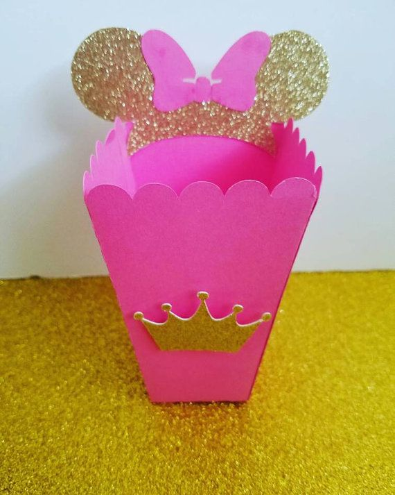 12 Minnie Mouse Pink and Gold Theme Favor di smallandkrafty