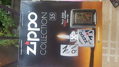 DEAGOSTINI ZIPPO COLLECTION LIGHTER WITH MAGAZINE PART WORK FROM 33 TO 35.