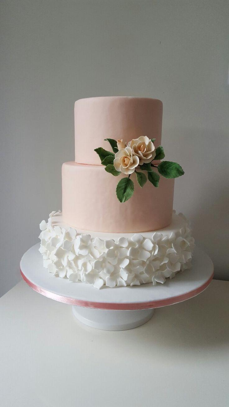Cake flower / bruidstaart simpel elegant