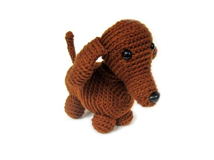 Free Knitting Pattern For Dachshund Dog : crochet dachshund pattern Amigurumi Pinterest Patterns, Crochet and Posts