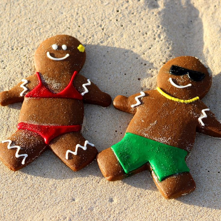 Look who's having fun in #Wakiki! These adorable Gingerbread Cookies are living the life in #Hawaii! #Aloha!